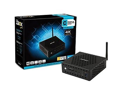 ZOTAC ZBOX nano CI325 Mini PC, 4 GB RAM, 32 GB SSD, Intel HD Graphics, Black (ZBOX-CI325NANO-U-W2B)