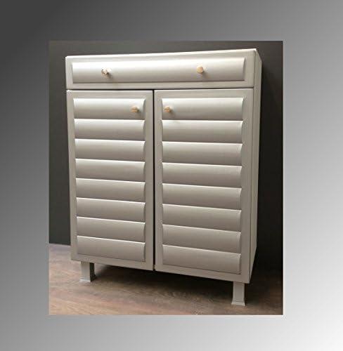 Baño muebles Baño Armario cómoda Armario Plata Blanco Baño colgador: Amazon.es: Hogar