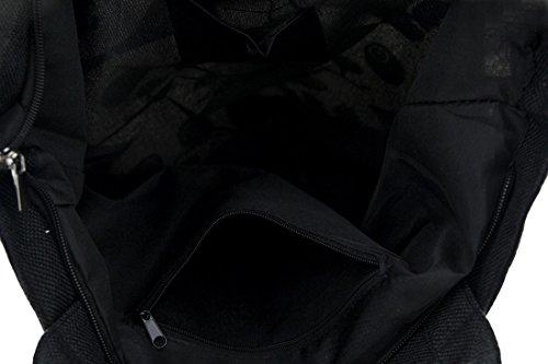Poliéster Bolso Zeckos De Negro Mujer Tela Para wtgSq6d