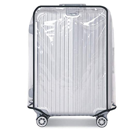 PVC Waterproof Luggage Cover for Suitcase Luggage,Anti Scratch Transparent Suitcase Protector Bag Fits 18-30 Inch…
