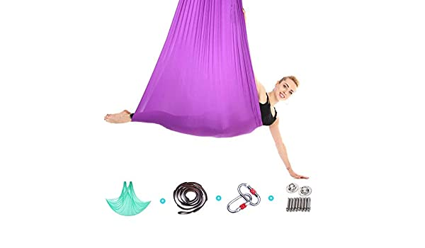 ZENWEN Hamaca de Yoga Nylon Antideslizante Hamaca de Yoga aérea ...