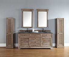 "James Martin Furniture Savannah 72"" Double Vanity Cabinet, Driftwood"