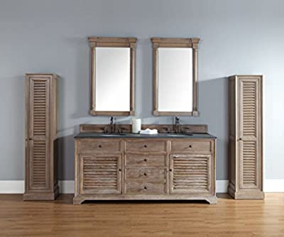 "James Martin Furniture Savannah 72"" Double Vanity Cabinet, Driftwood"