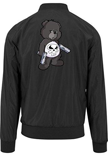 Punisher Bear Bomberjacke Black Certified Freak