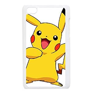 Personalized Durable Cases Ipod Touch 4 Phone Case White Bafmj Pikachu Protection Cover