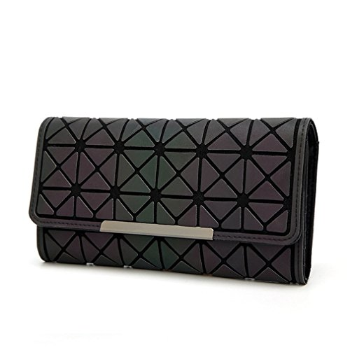 Betrocka Geometry Women Wallets Purse Clutch Phone Bag Card Holder Luminous A by Betrocka