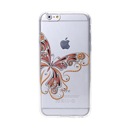 Price comparison product image Urberry Iphone 6s / 6 Case,  Bling Diamond Butterfly Case with a Screen Protector