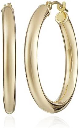 14k Yellow Gold Hoop Earrings (1