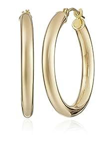 """14k Yellow Gold Hoop Earrings (1"""" Diameter)"""