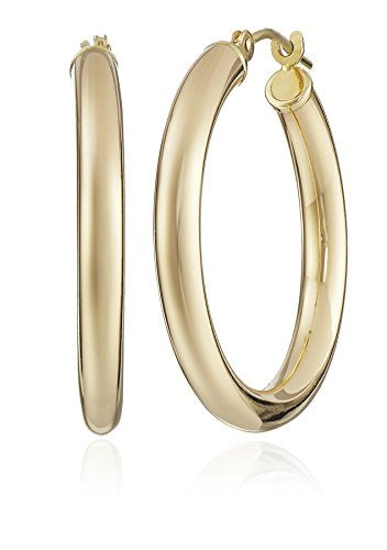 "14k Yellow Gold Hoop Earrings (1"" Diameter)"