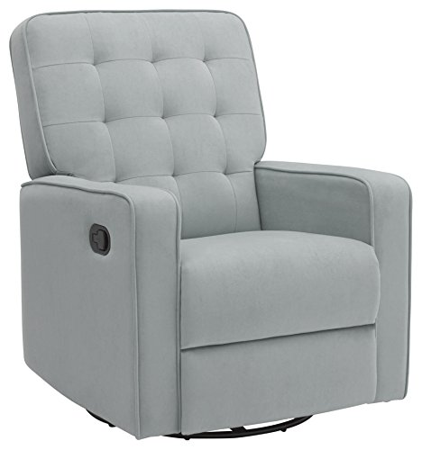 Delta Children Gavin Nursery Glider Swivel Recliner Featuring LiveSmart Fabric by Culp, Mist by Delta Children