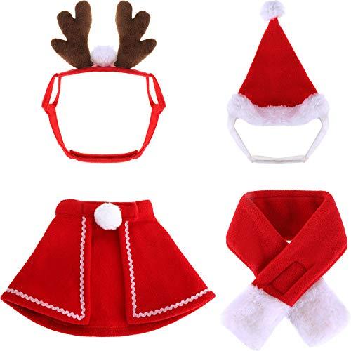 Blulu Christmas Pet Costume Accessory Kits, Include Santa