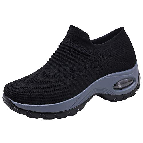 Para Altos Transpirable Gris Rojo Casual Mesh 43 Mujer Morado Aumentar Running Caminar Deportivas 35 Deporte Correr Zapatos Sneakers Zapatillas Negro Más Gimnasio C60qn