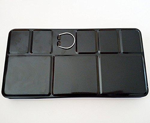 Pebbleアート空half-pan水彩メタルボックスHolds 48半分Pansまたは24フルPans