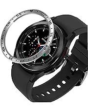 Bezel Ring kompatibel med Samsung Galaxy Watch 4 Classic 46mm Anti Scratch Protection Case Claret SmartWatch