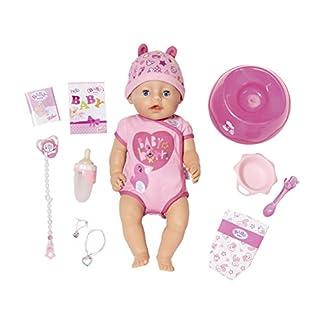 Zapf Creation 824368 BABY born Soft Touch Girl Puppe mit lebensechten Funktionen und viel Zubehör, bewegliche Gelenke und weiche Soft-Touch-Oberfläche, 43 cm 1