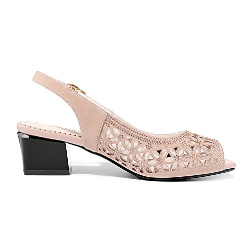noche Verano ZHZNVX mujer Chunky bomba Sandals Gladiator Zapatos Tulle negro Parte Casual talón de Glitter Almendra Black básica nBwqx6Brg