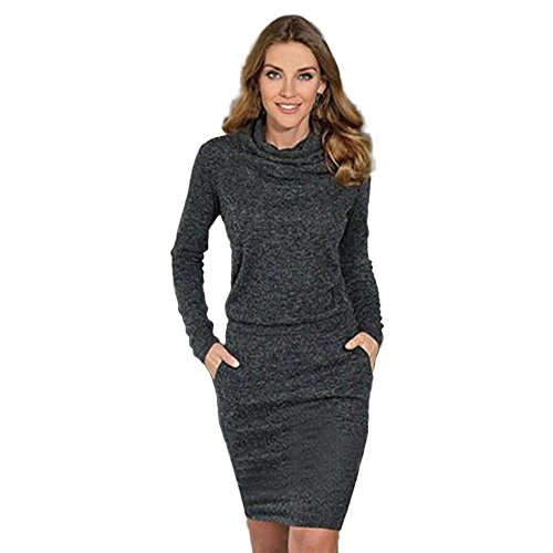TIM Womens Ladies Fashion Package Hip Slim Mini Pencil Business Cocktail Dress (Medium,Black) ()