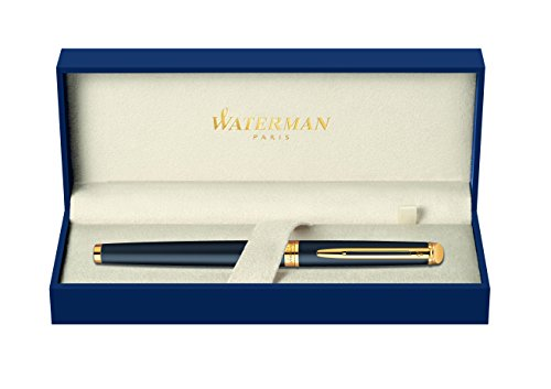 Waterman Shipping Pen (Waterman Hemisphere 2010: Matte Black GT Fountain Pen, Gold Trims, Gold Plated Medium Nib.)
