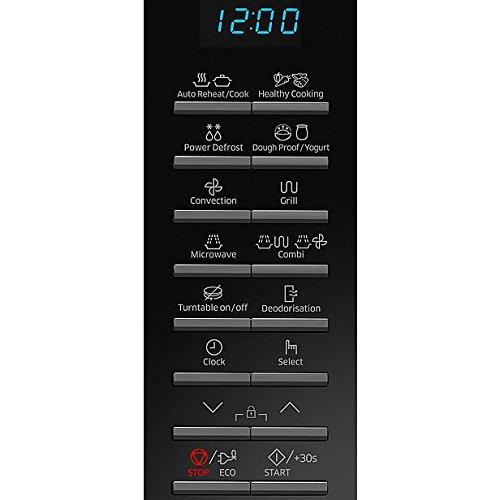 Encimera, 28 L, 900 W, Botones, Negro, Retirable Samsung MC28H5015AK Encimera 28L 900W Negro Microondas