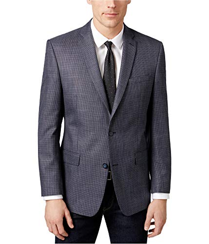 Marc New York Mens Birdseye Two Button Blazer Jacket, Blue, 40 Regular ()
