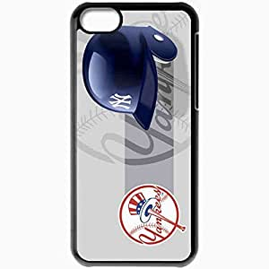 Personalized iPhone 5C Cell phone Case/Cover Skin 15137 NEW YORK YANKEES by elmaximo Black by lolosakes