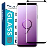 Tech Armor Ballistic Glass 3D Curved Screen Protector Designed for Samsung Galaxy S9 Plus, CASE-Friendly, HD Clear, Black - [1-Pack]