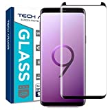 Tech Armor Ballistic Glass 3D Curved Screen Protector Designed for Samsung Galaxy S9, CASE Friendly, HD Clear, Black - [1-Pack]