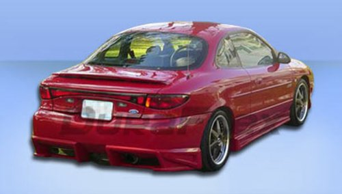 Duraflex Replacement for 1998-2003 Ford Escort ZX2 Bomber Rear Bumper Cover - 1 Piece