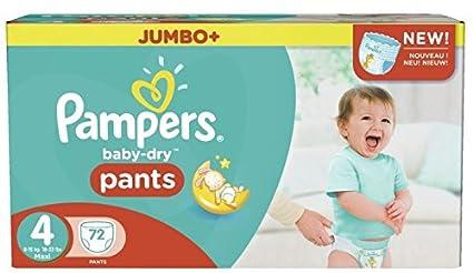 Pampers Baby-Dry Tamaño De Los Pantalones De La Caja 4 Jumbo 72 Pañales (