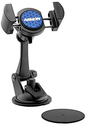 Arkon RoadVise Car Dash Mount Holder for iPhone XS Max XS XR X Galaxy S10 S9 Note 9 8 Retail Black ()