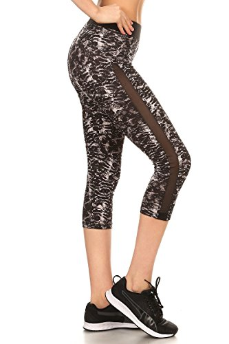 Sejora Satina Yoga Pants & Capris Activewear Exercise Leggings w/Designs & Mesh