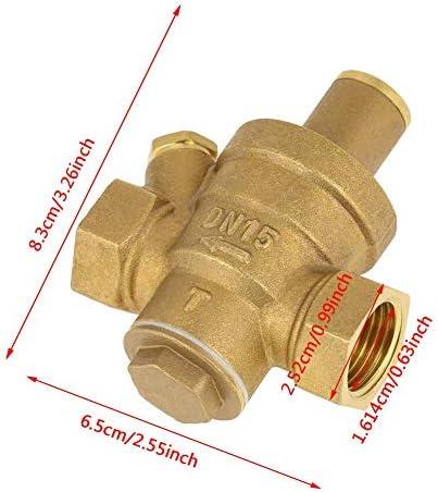 """DN15 1/2""""Messing Wasserdruckreduzier-Regelventil Einstellbares Gewinde Wasserdruckreduzierung"""