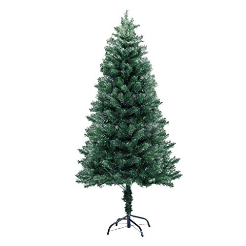 - FitnessClub 6FT Artificial Christmas Pine Tree Hinged Unlit Slim Tree Xmas Tree for Indoor Decoration (Green, 6FT)