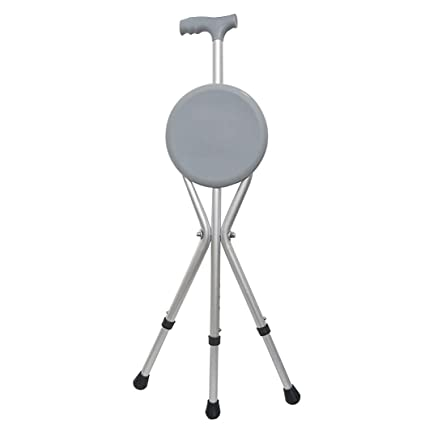 Marvelous Amazon Com Zjfsx Folding Cane Seat With 5 Height Caraccident5 Cool Chair Designs And Ideas Caraccident5Info