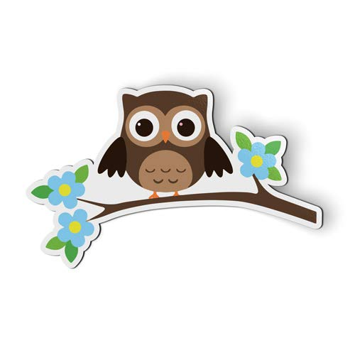 AK Wall Art Owl Tree Branch - Magnet - Car Fridge Locker - Select -