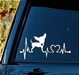 Bluegrass Decals K1002 Chihuahua Heartbeat Monitor