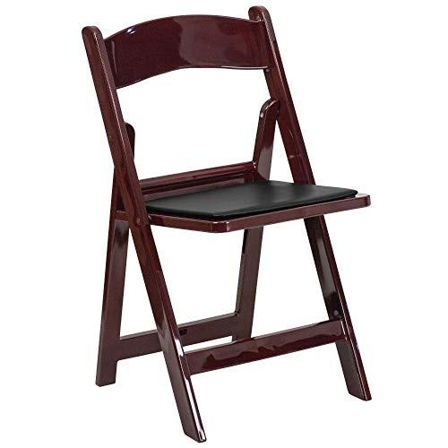 Living Room Mahogany Folding Chair - 1