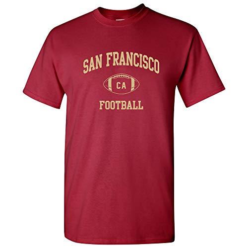 San Francisco Classic Football Arch Basic Cotton T-Shirt - Large - Cardinal