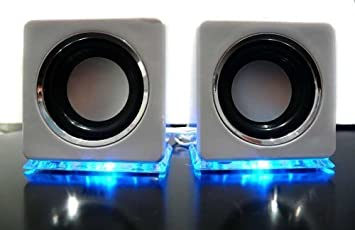 LinQ - Altavoces USB, color blanco