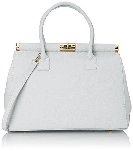 Chicca Borse 08005-a-Bianco, Bolso de Mano para Mujer, Blanco (Bianco), 35 cm