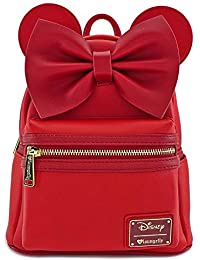 Minnie Mouse Red Faux Leather Mini Backpack