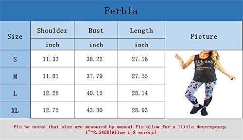 5f48f023 Ferbia Womens Sleeveles Workout Fitness Fitish Graphic Print Tank Tops with  Funny Sayings