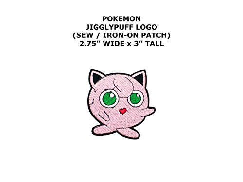 Jigglypuff Pokemon DIY Embroidered Sew or Iron-on Applique Patch Outlander (Jigglypuff Costume Diy)