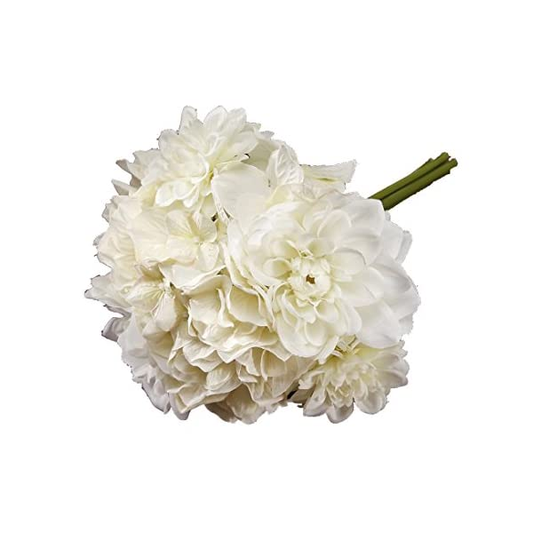 Victoria Lynn Mixed Dahlia Hydrangea Bouquet – 10 inches