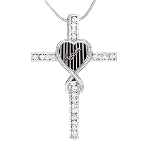 Price comparison product image Beufun Cross Infinity Love Pendant Necklace Graphic 3D Printed Jewelry for Women Girls