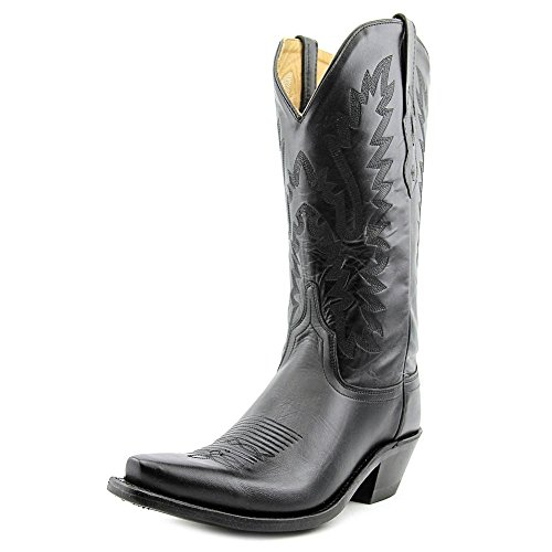 Old West Black Womens All Leather 12in Snip Toe Cowboy Western Boots 8.5 B by Old West