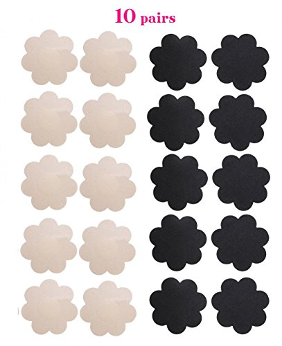 10-Pairs-Womens-Sexy-Pasties-Disposable-Pasty-Set-Stain-Nipple-Cover-Multi-Design