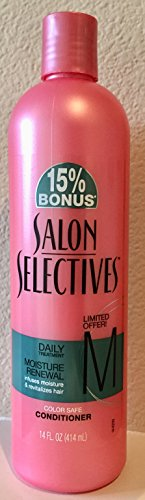 Salon Selectives Daily Treatment Moisture Renewal Color Safe Conditioner, 14 Oz. (Salon Color Safe)
