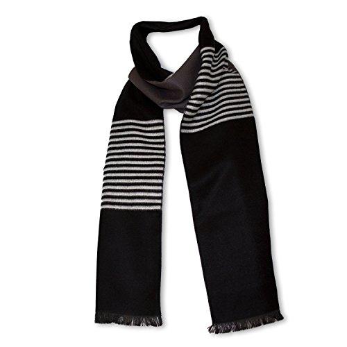 StrayKat Men's Silk Viscose Soft Reversible Scarf, Designer Gift Box, O/S - Tri Gray